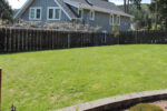 Before: a shot of the property before landscaping